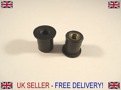M5 x 15 Rubber well nuts for mounting accessories kayak motorcycle fairing x10