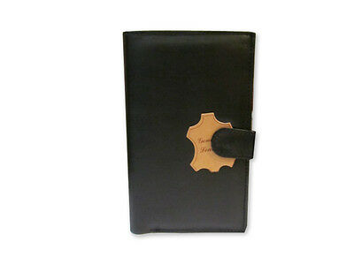 Genuine Leather Travel Wallet Passport & Card Holder Document Organizer