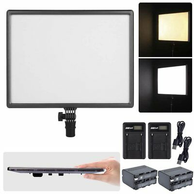 CN-Luxpad43 Slim 3200K-5600K LED Video Light Panel + 2X Battery + 2X Charger Kit