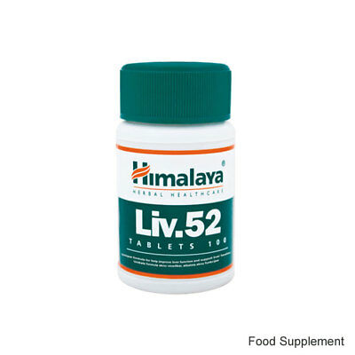 10 Jars x 100 Tablets Himalaya Liv.52 Liver 52 Herbal Supplement *UK SELLER*