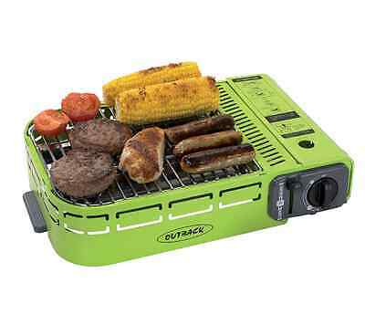 Outback Compact Grill Barbecue Camping Gas BBQ Transportable Carry Case Griddle