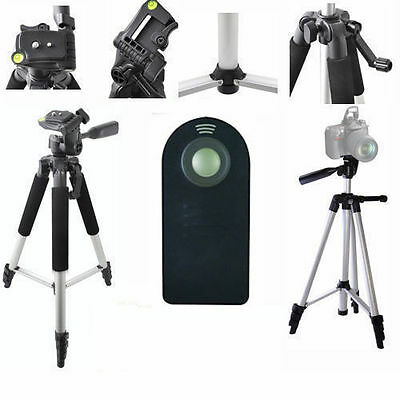 "Lightweight 57"" Photo Tripod + REMOTE For Canon EOS Rebel T6 T6I T6S 6D 7D 70D"
