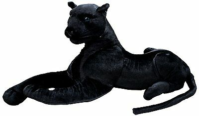 160 Cm Large Plush Quality Black Panther Soft Stuffed Enormous Cuddly Animal