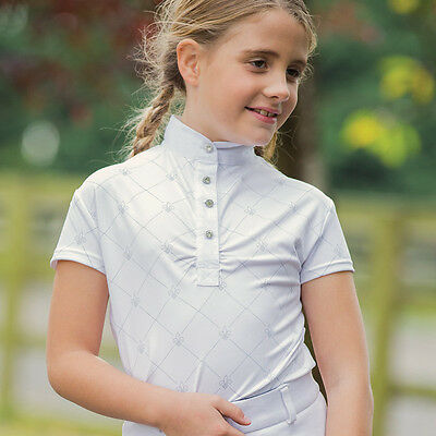 Equetech - Junior Fleur Competition Shirt - Childs Equestrian Competition Shirt