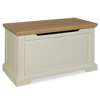 Penpol Blanket Box / Off White Painted Classic Trunk / Storage Chest / Oak Top