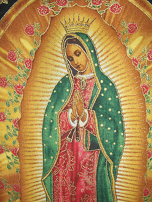 Virgin Lady of Guadalupe fabric, Inner Faith, Nuestra Señora, icon gothic Mary