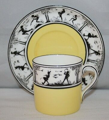 E. Brain & Co, Foley China - Fairy Silhouette - Coffee Can/Saucer - c1935 - vgc