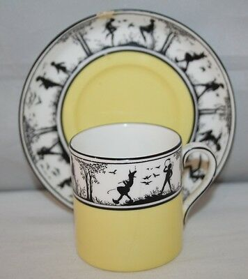 E. Brain & Co, Foley China - Fairy Silhouette - Coffee Can/Saucer - c1935