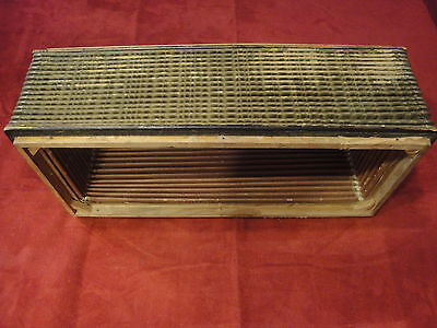 Vintage Accordion Part - Bellows 16.5 x 7.5 x 4 Inches Green and Yellow