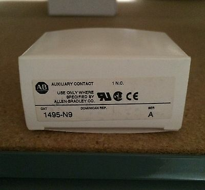 New Allen Bradley 1495N9 Auxiliary Contact