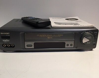 Sharp VC-H958U HIFI Stereo VCR VHS Video Cassette Recorder Player with Remote