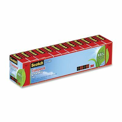 Scotch Transparent Greener Tape, 3/4 x 900 Inches, Boxed, 12 Rolls (612-12P)