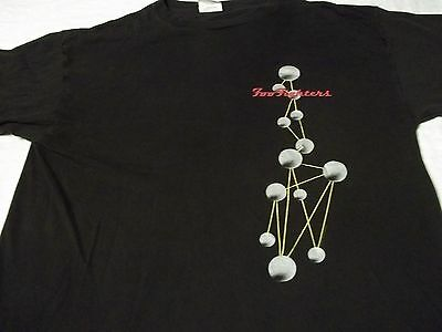 Vtg 1997 FOO FIGHTERS The Colour & The Shape XL Wild Oats USA Made ROCK T-SHIRT