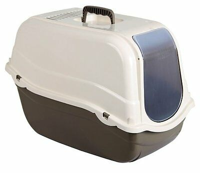 Kerbl Cat Litter Box  Minka,  Taupe/ Cream 57 x 39 x 41 cm
