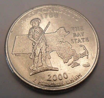 2000 P Massachusetts (Ma) State Quarter  **free Shipping**