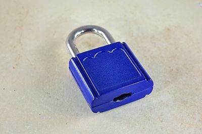 (Lot of 7) Mini  Padlock Tiny Box Locks With keys  Blue Color
