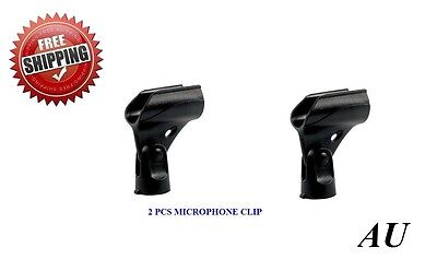 2 PACK Microphone mic Clip Holder Fits SM58,SM57, Beta58 Microphones
