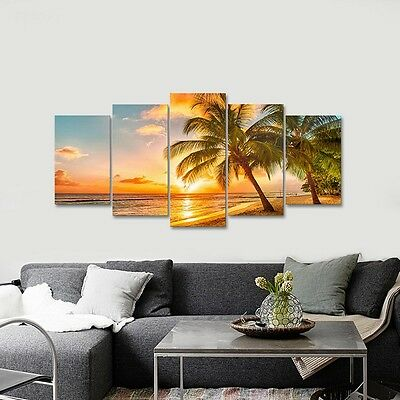 Canvas Art Print Photo Pic Wall Home Decor Painting Landscape Sea Beach Framed