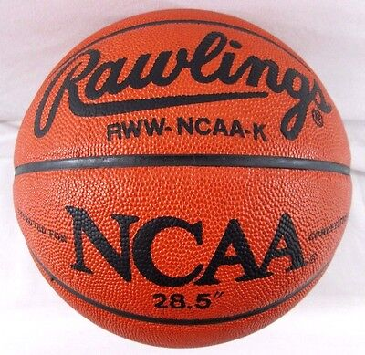 Official Ncaa  Rawlings 100% Leather Basketball Vintage Game Ball Throwback Ball