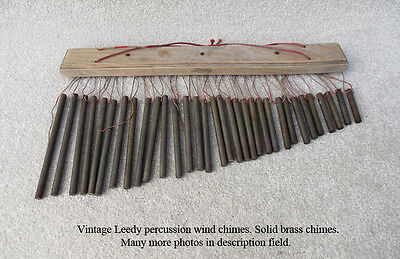 Antique Vintage Leedy Solid Brass Bars Percussion Wind Chimes - Trap Drum Set
