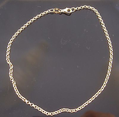 Brand New Solid 9ct Yellow Gold Belcher Anklet