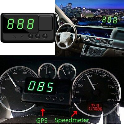 Universal Car GPS Speedometer HUD Head Up Display MPH/ KM/H Play Overspeed Alarm