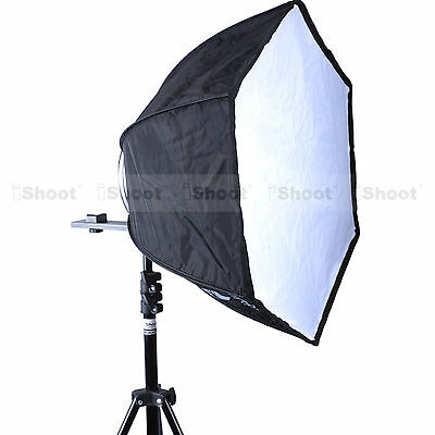 "18"" Foldable Hexagonal Speedlite Hot Shoe Mount Flash Softbox Diffuser Reflector"