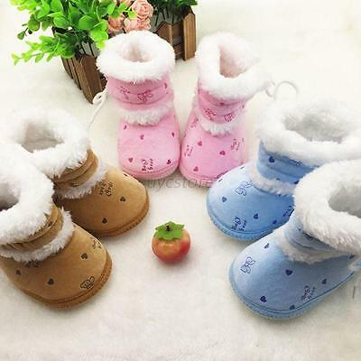 Winter Warm Baby Kids Cute Booties Shoes Baby Girls Anti-Skid Snow Boots 0-18M