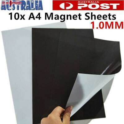 10x A4 1.0mm Magnetic Magnet Sheets Self Adhesive Thickness Crafts Material AU