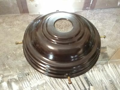 Brown Motled Bakelite Galleries 133mm for Art Deco Lights(internal measurement)