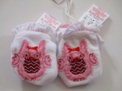 Pumpkin Patch Baby Girls Owl Mittens OSFA New with tags