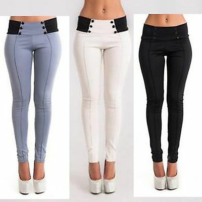 S-XL New Women Casual Stretch Skinny Leggings Pencil Pants Slim Trousers JS#~