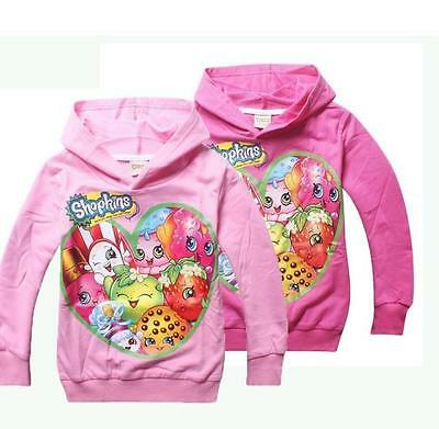2016 New Kids Girls Cartoon Shopkins Spring Cute Coat Hoodies Casual Clothes