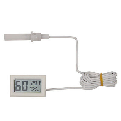 Digital Meter With Wire Lcd Temperature Humidity Hygrometer Vivarium Reptile W