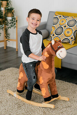2  In 1 Baby Musical Rocking Animal Horse Ride On Rocker Chair Walker Kid Toy