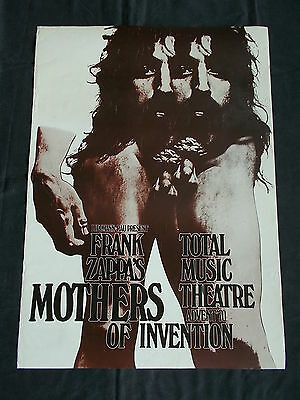 "+++ 1970 FRANK ZAPPA Tour Poster Germany Very Rare ""Double-Head"" by KIESER"