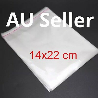100pcs 14x22cm Self Adhesive Plastic Bag OPP Clear Jewelry Packaging