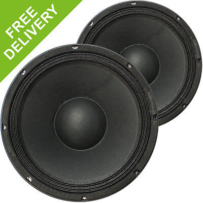 "2x Stage Line 12"" Spare Replacement Parts DJ PA Mid Range Speaker Drivers 800W"