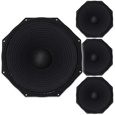 """4x Citronic 15"""" Subwoofer Speaker Drivers Spare Replacement Parts 4400W"""