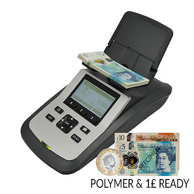 Tellermate Tix Money Coin Counting Scales Bank Note Cash Counter Machine Euro