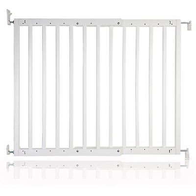 New Safetots Chunky Wooden Screw Fit Stair Gate White 63.5 - 105.5cm Child Gate