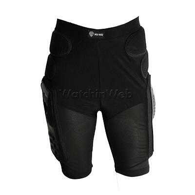 Motorcycle Bike Padded Hip Protector Body Armour Cycle Shorts Black 5 Sizes