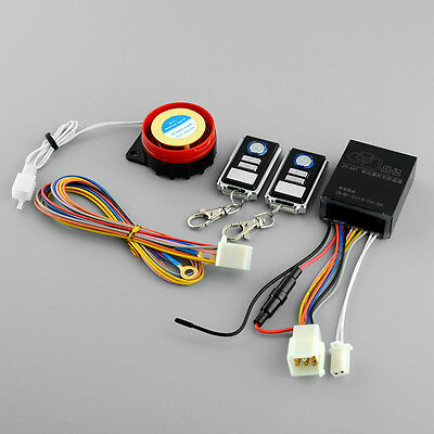 Motorcycle Bike Anti-theft Security Remote Control Alarm System Engine Start