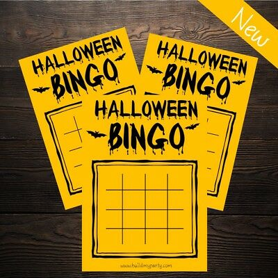 Halloween Bingo - Childrens Family Party Spooky Game Activity - 20 Player!