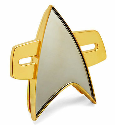 "Star Trek Voyager Full Size 2"" Authentic Magnetic Metal Communicator Pin"
