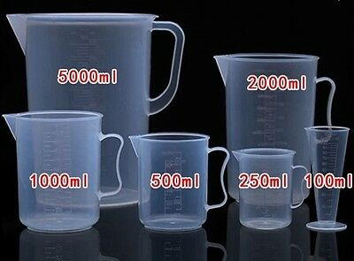 Plastic Measuring Counting Pitcher Cup With Handle Kitchen Tool Craft new