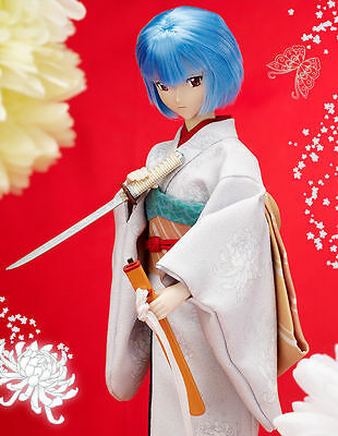 TAKARA TOMMY 1/6 Ayanami Rei with Japanese Sword Doll Evangelion Japan kimono