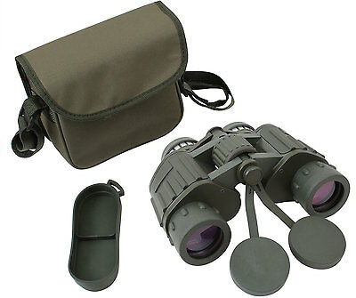 Olive Drab 8 x 42 Magnification Tactical Binoculars with Case