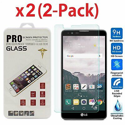 2-Pack TEMPERED GLASS Film Screen Protector For LG G Stylo 2 PLUS MS550