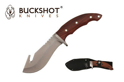 "10"" Outdoor Survival Rescue Hunting Full Tang Hunting Knife w/ Gut Hook NEW"